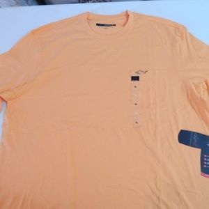 Greg Norman Size XL Orange Pocket Tee NWT